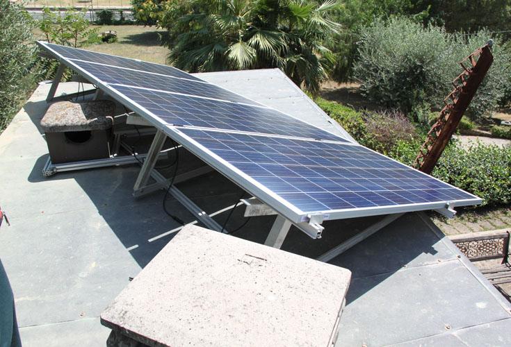 Aquelio, ulteriore veduta dei moduli fotovoltaici