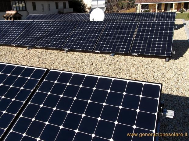 Impianto fotovoltaico su copertura piana