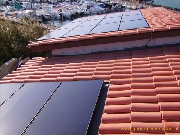 Impianto fotovoltaico su falde non complanari